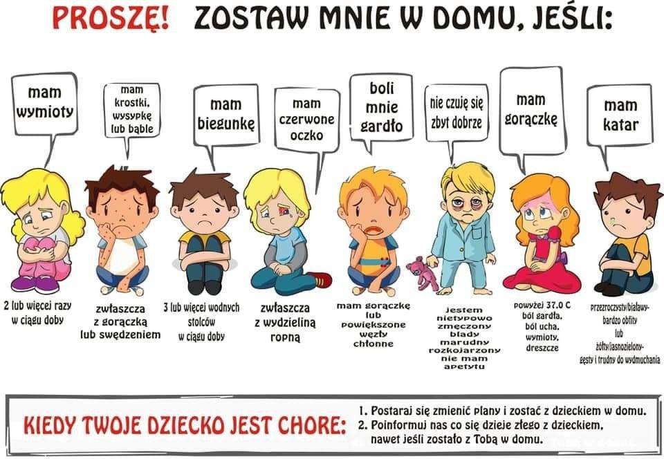 grafika z chorymi dziećmi