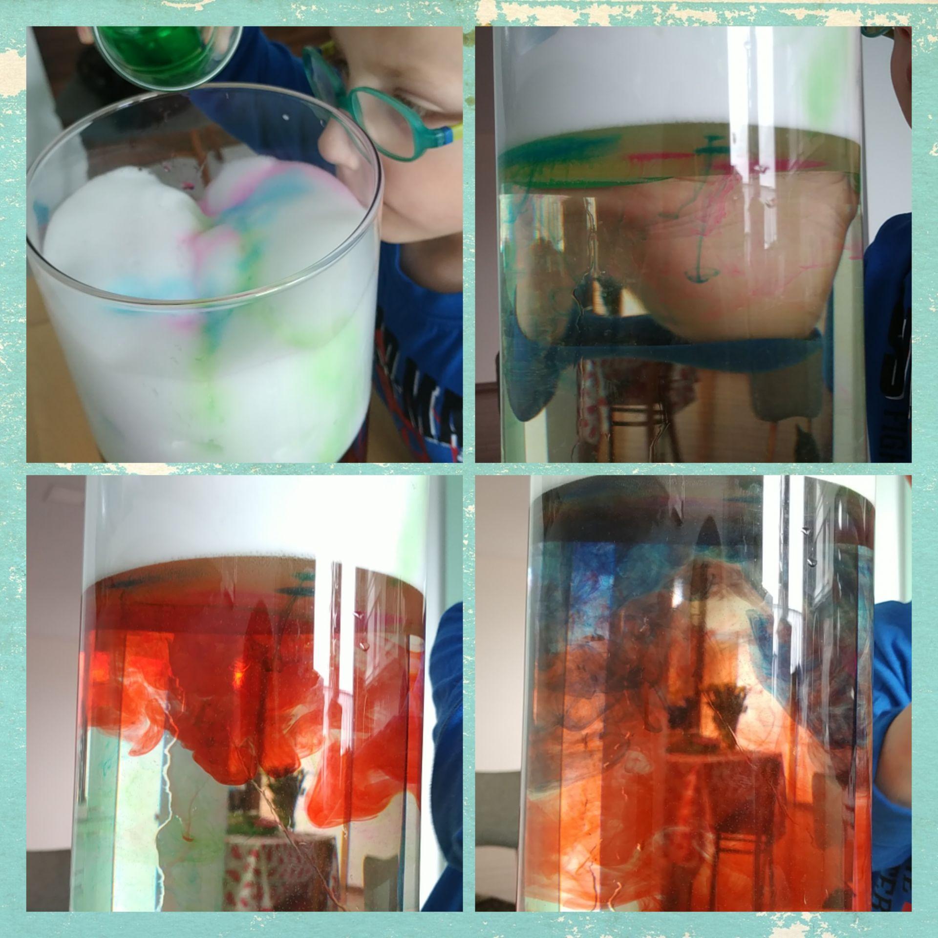 Naczynie z pianką i wodą